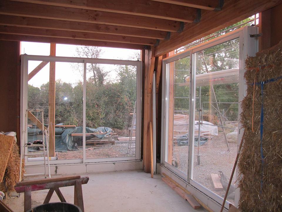 Pose des baies vitrées